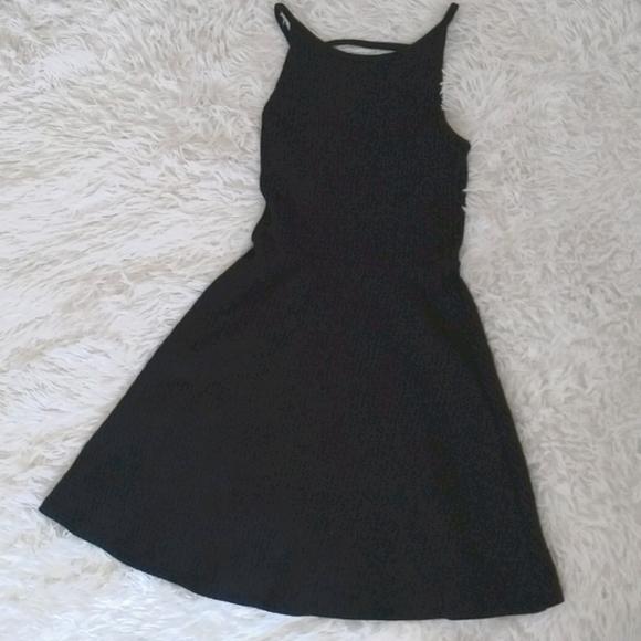 Top Shop Black ribbed dress